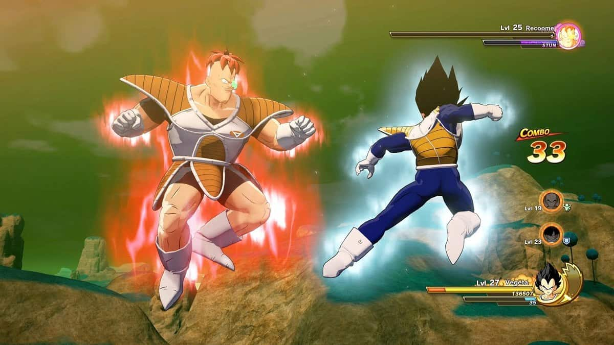 Beat Recoome in Dragon Ball Z: Kakarot