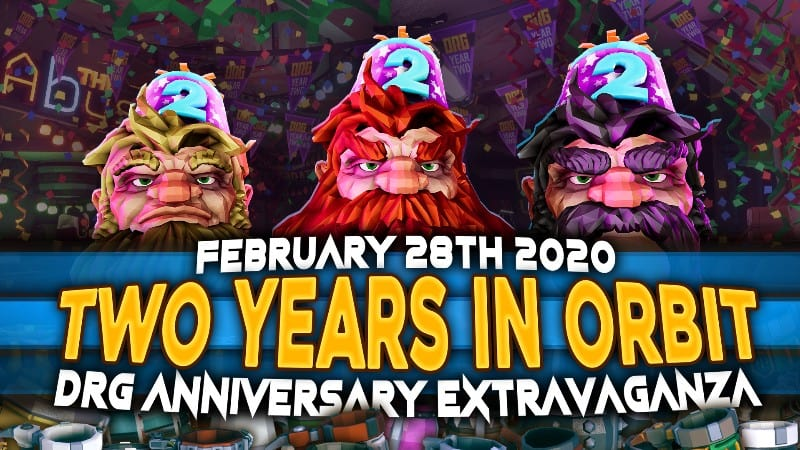 Deep Rock Galactic 2nd Anniversary Update Is Live, Party Hat