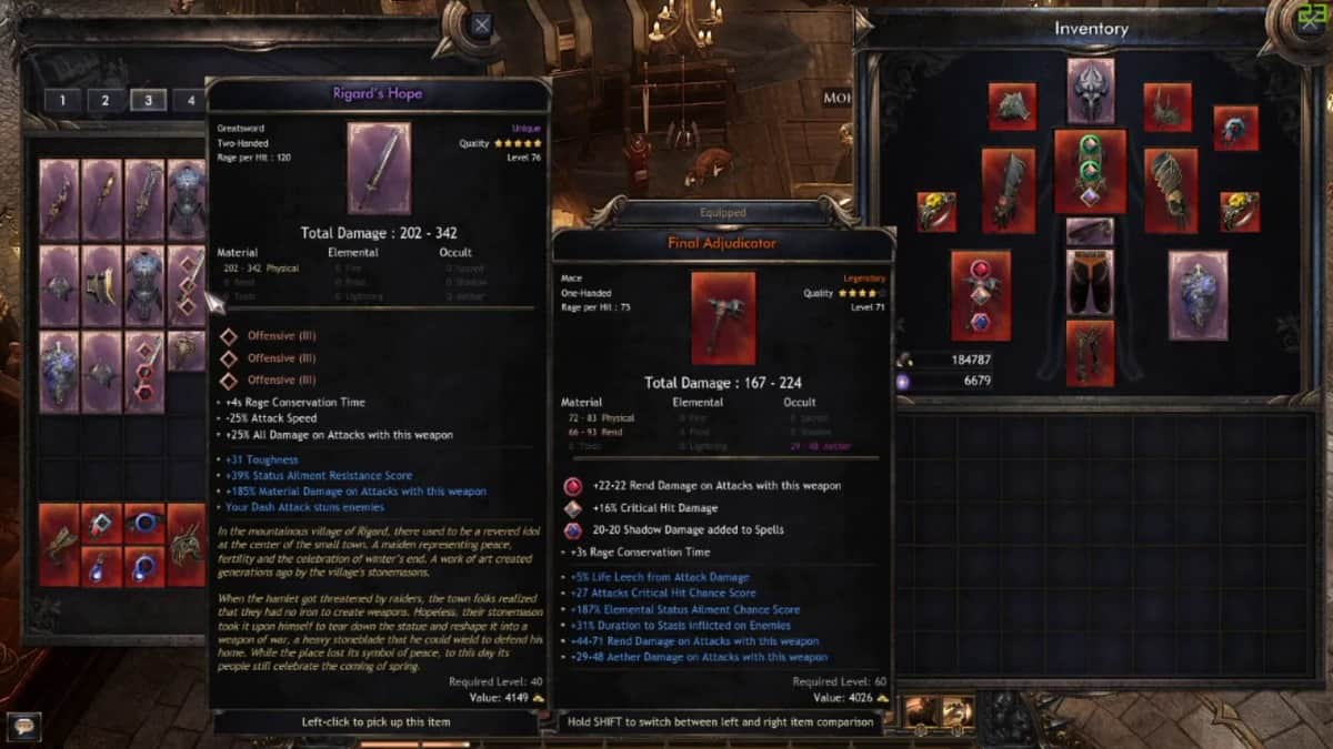 Wolcen: Lords of Mayhem Unique Weapons Guide