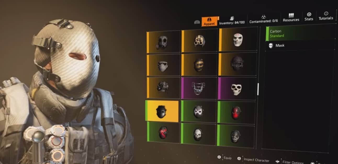 How to Get Carbon and Camo Hunter Masks in The Division 2