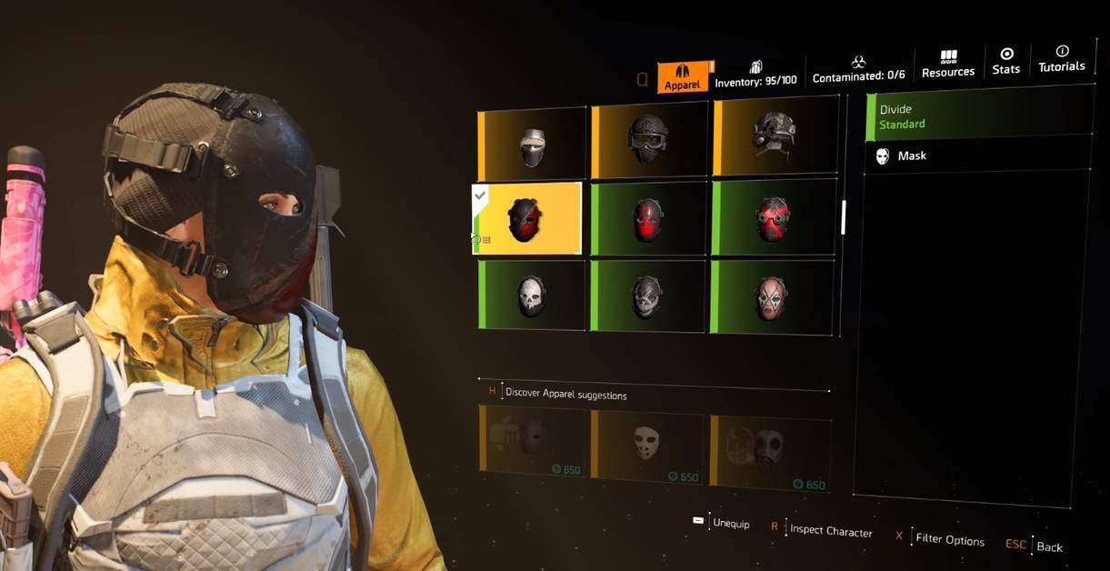 How to Find The Divide Hunter Mask in The Division 2