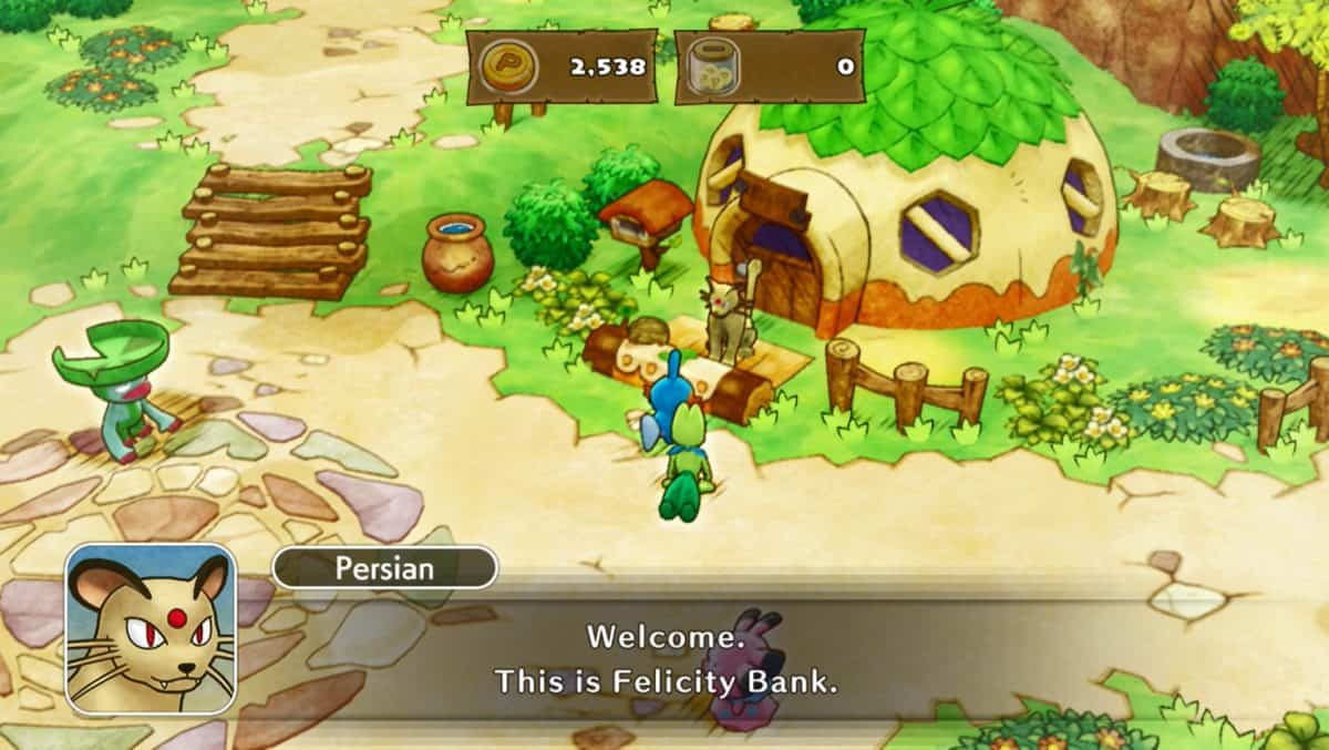 Pokemon Mystery Dungeon DX Felicity Bank