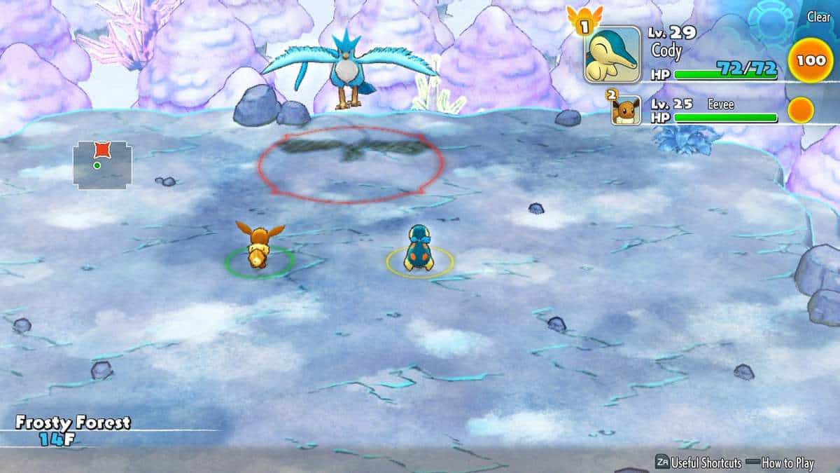 Pokemon Mystery Dungeon DX Frosty Forest