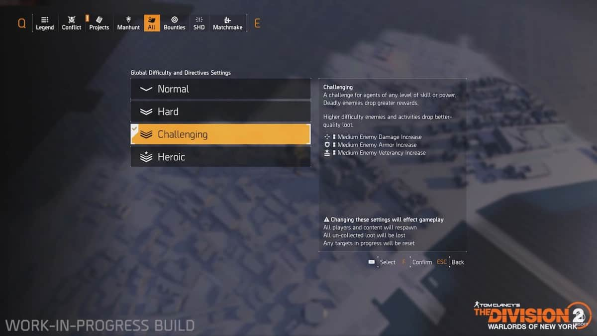 How to Change Global Difficulty in The Division 2