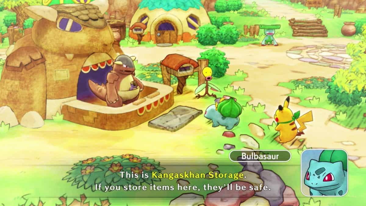 Pokemon Mystery Dungeon DX Kangaskhan Storage Guide