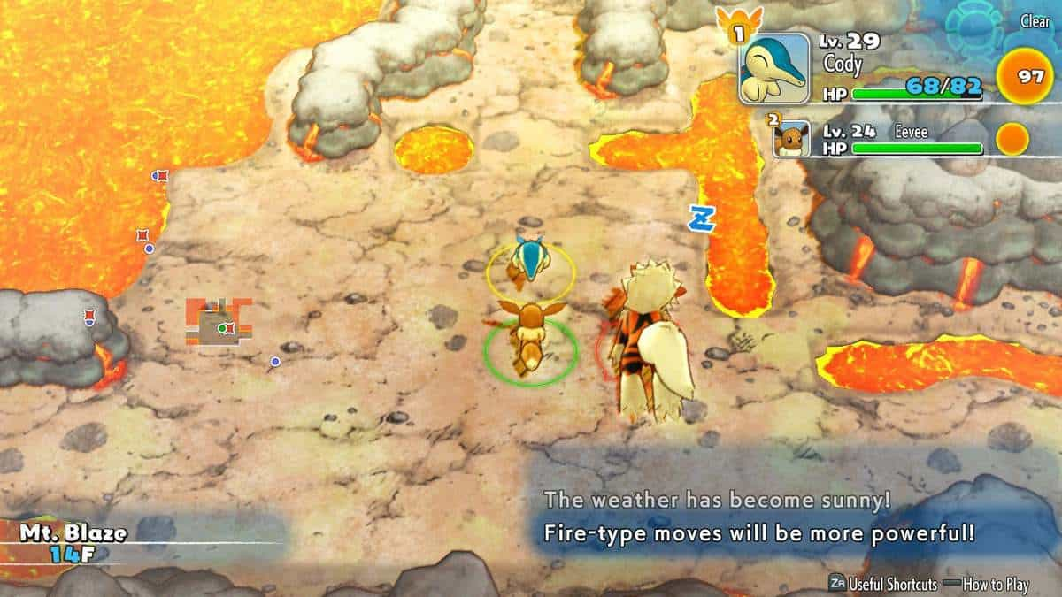 Pokemon Mystery Dungeon DX Mt Blaze Walkthrough