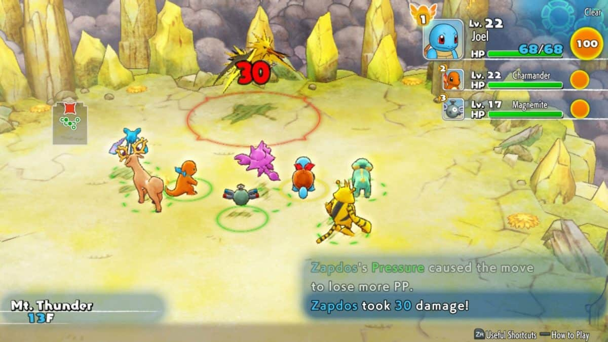 Pokemon Mystery Dungeon DX Mt Thunder Walkthrough