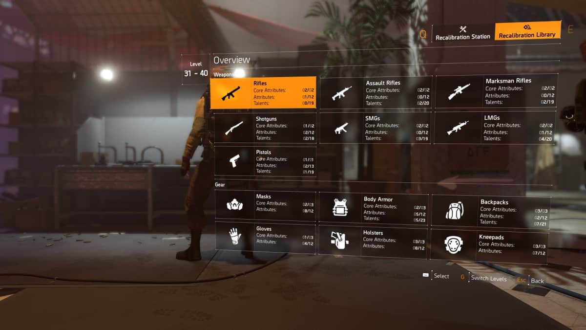The Division 2 Recalibration Library Guide