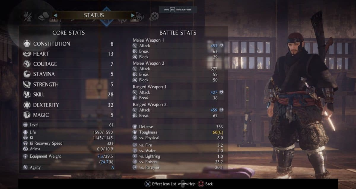 Nioh 2 Best Stats Guide