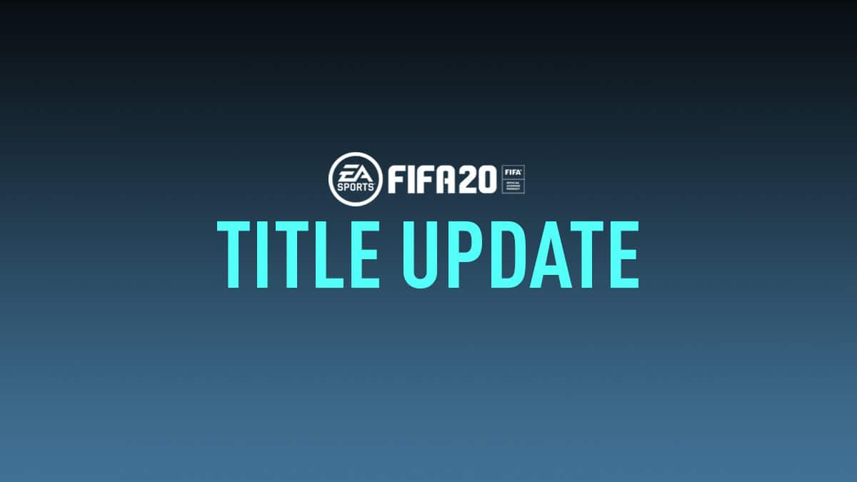 FIFA 20 Title Update #16 (1.20) Is Live, Connection Monitoring Option
