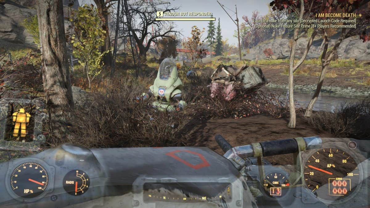 Fallout 76 Wastelanders Ally: Bot of Gold