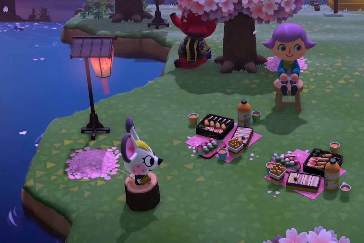 How to Catch Cherry Blossom Petals in Animal Crossing New Horizons
