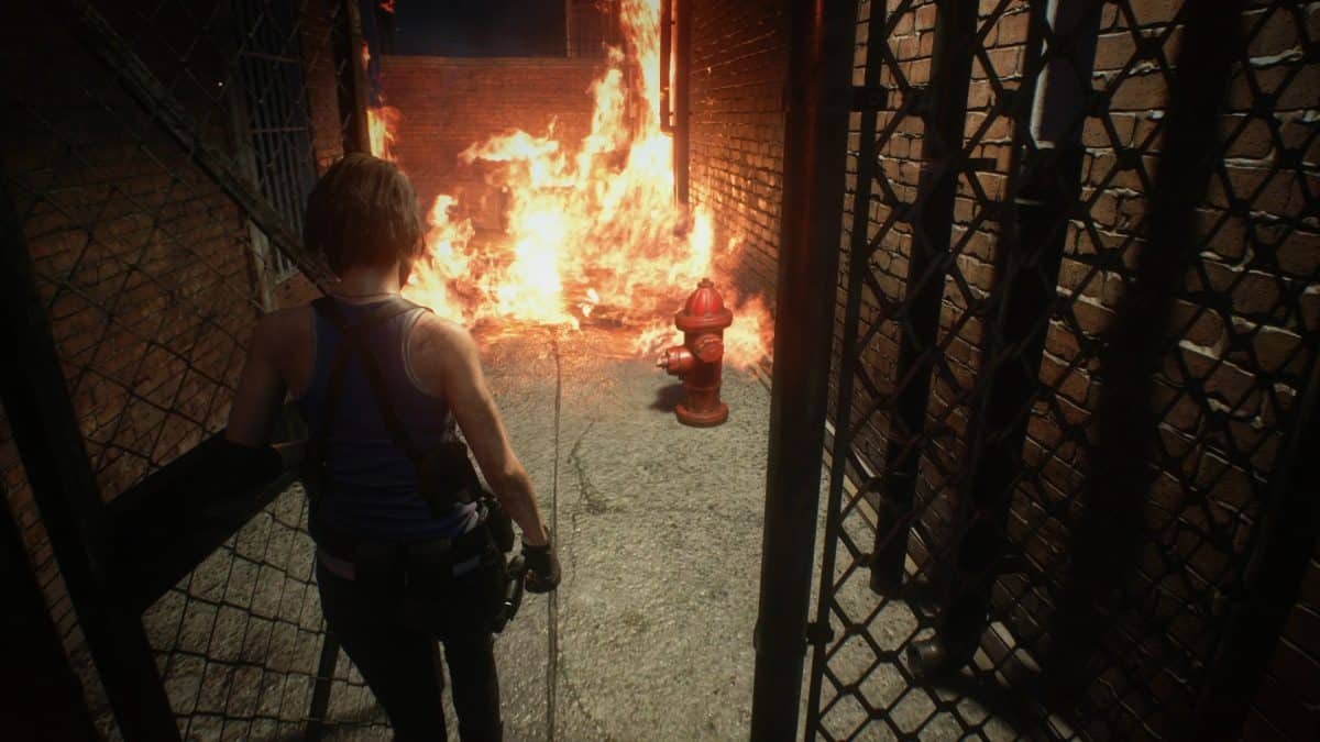 How to Put Out the Fire in Alley in Resident Evil 3 Remake