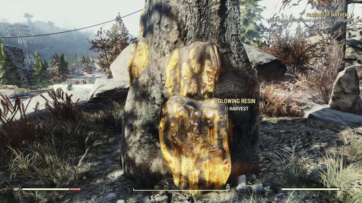 Fallout 76 Wastelanders Glowing Resin Locations Guide