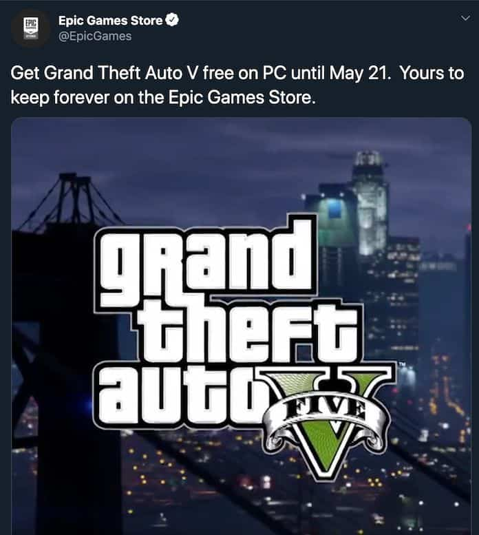 GTA 5 To Be Free On Epic Games Store Until May 21 [Updated]