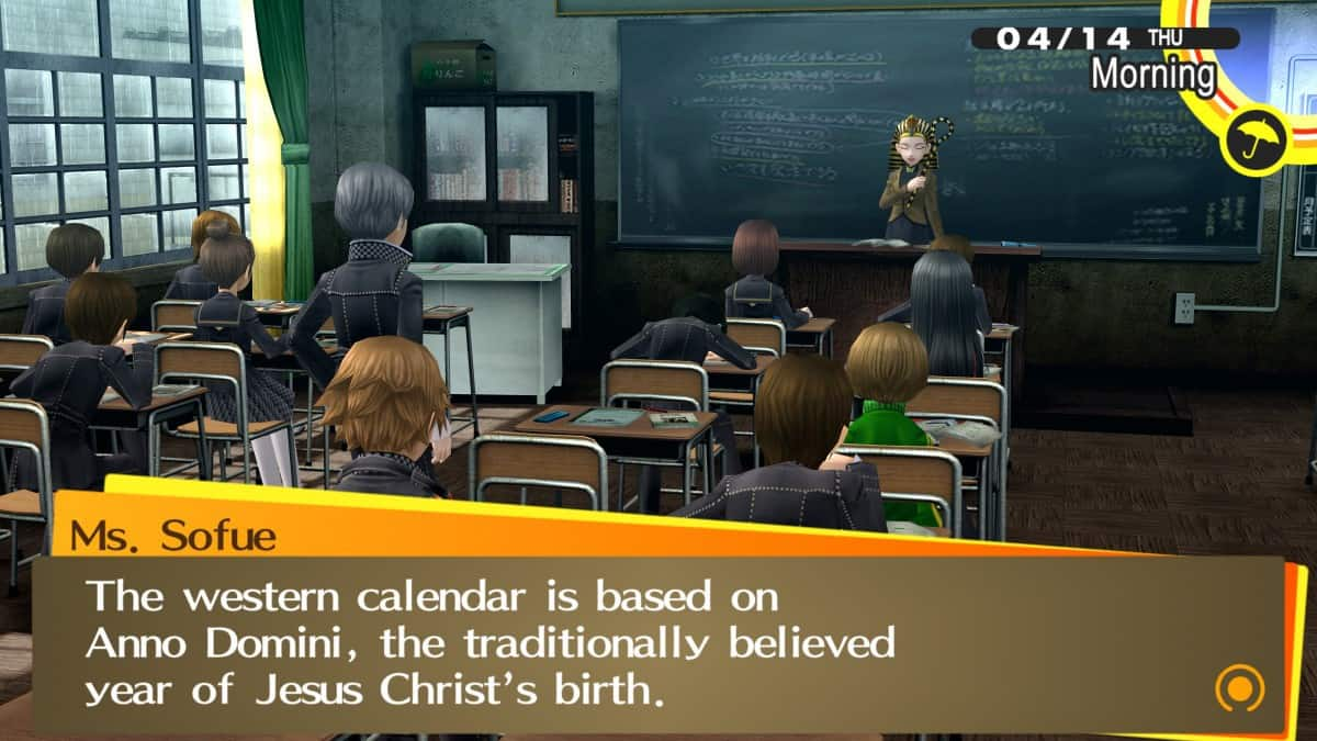 Persona 4 Golden Classroom Answers Guide