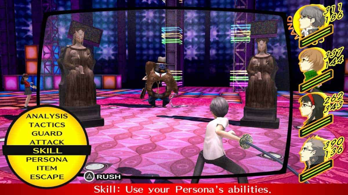 Persona 4 Golden Magic Skills