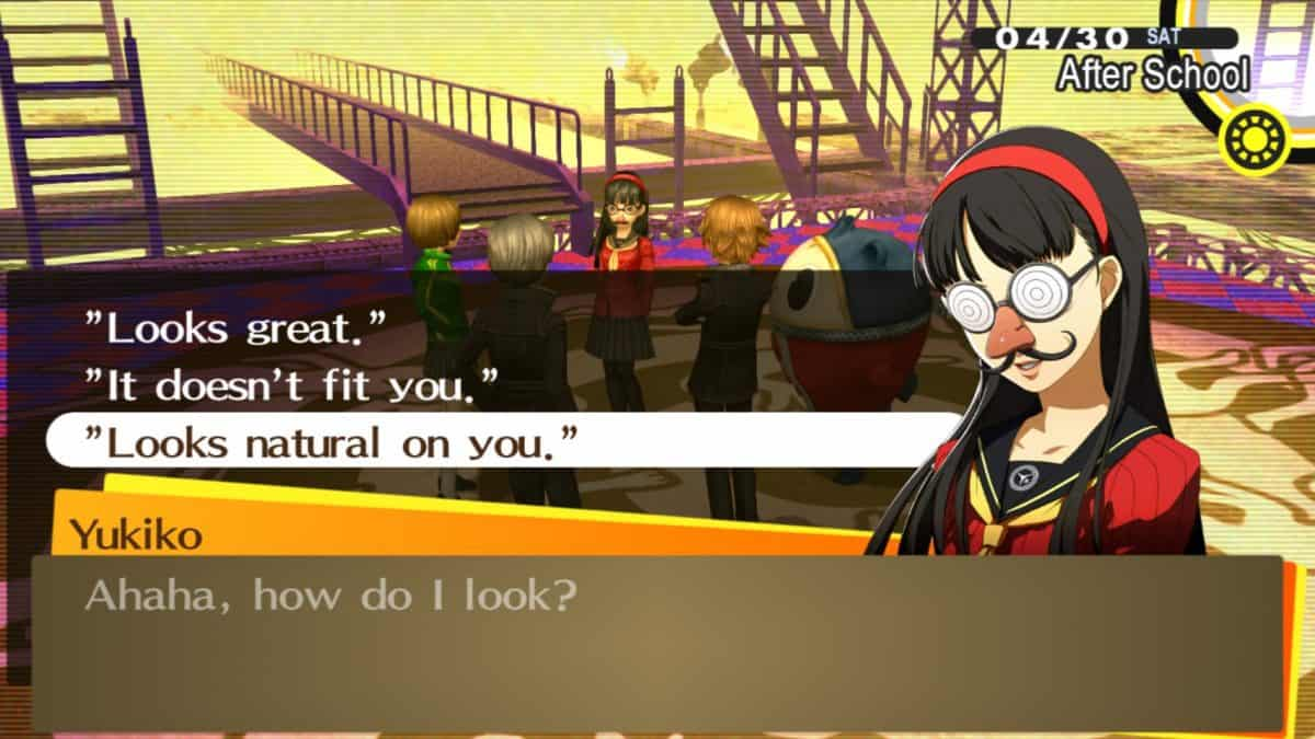 Persona 4 Golden Physical Skills