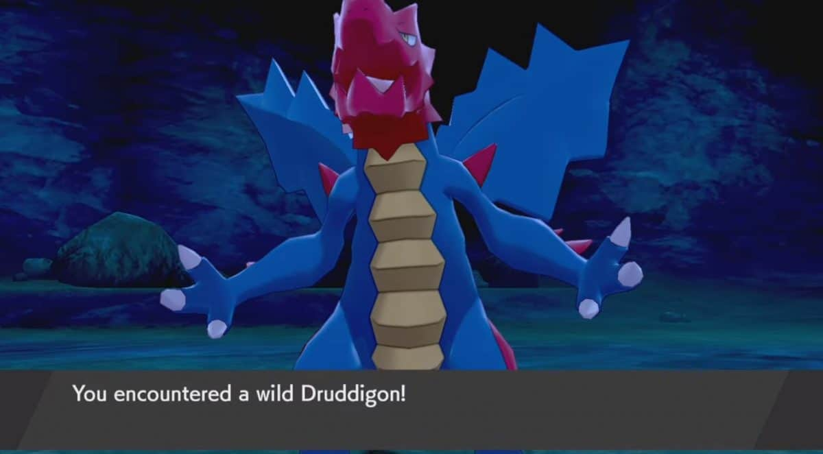 How to Catch Druddigon in Pokemon Sword and Shield, Location and Stats