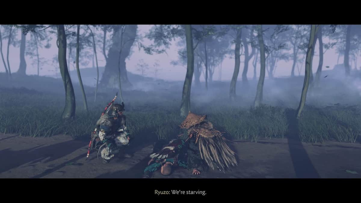 Ghost of Tsushima Blood on the Grass