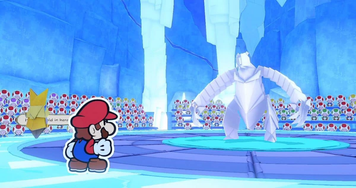 Paper Mario The Origami King Ice Vellumental Boss