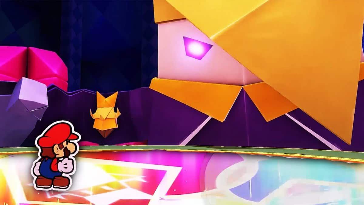 Paper Mario The Origami King King Olly Boss