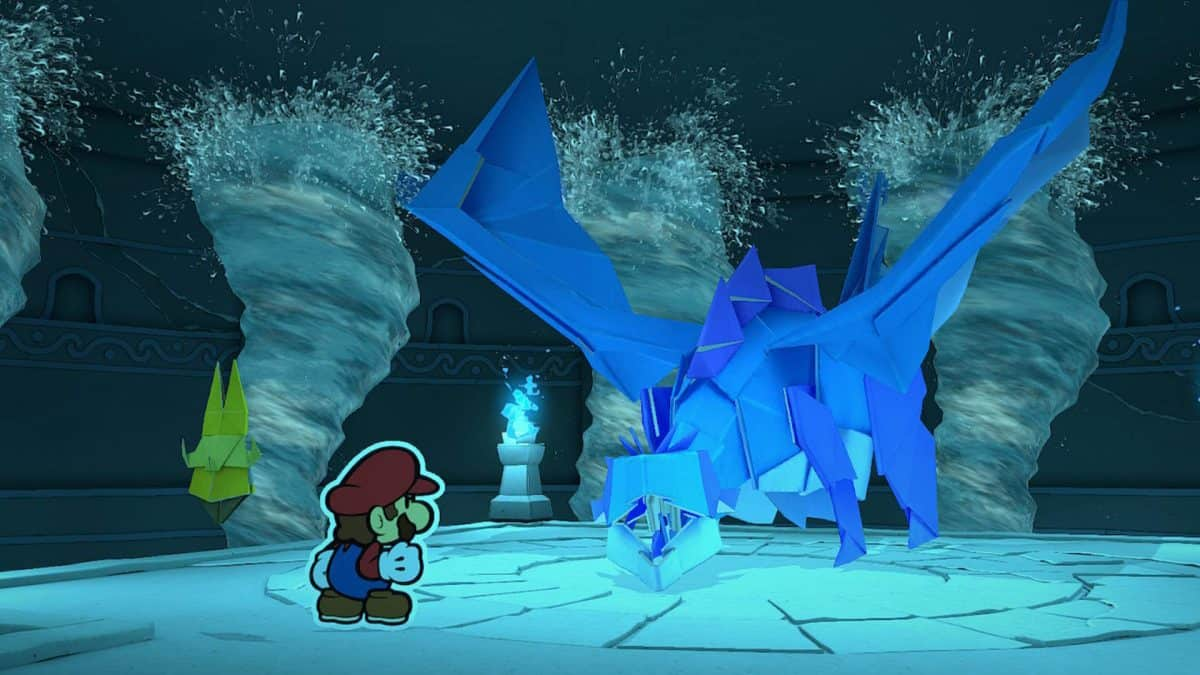 Paper Mario The Origami King Water Vellumental Boss