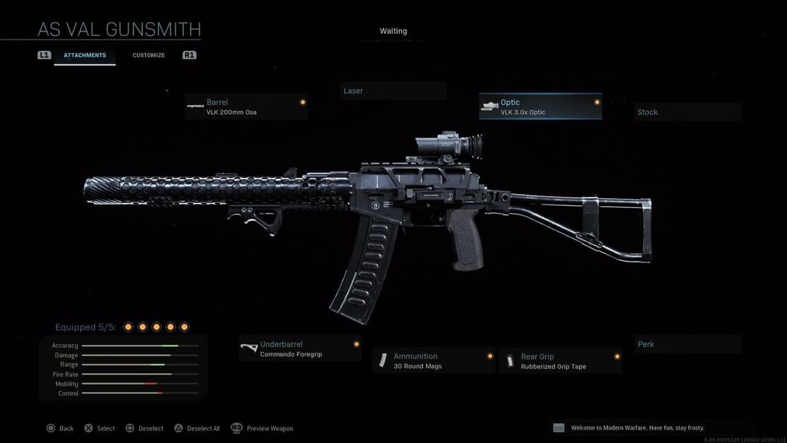 Call of Duty Warzone AS Val Builds With Best Attachments