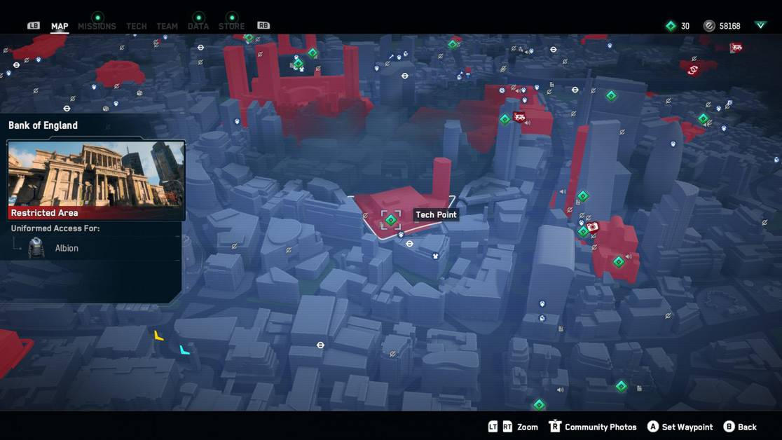 Watch Dogs Legion City of London Tech Point Locations Guide
