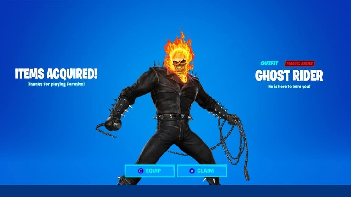 How to get the Ghost Rider Skin in Fortnite