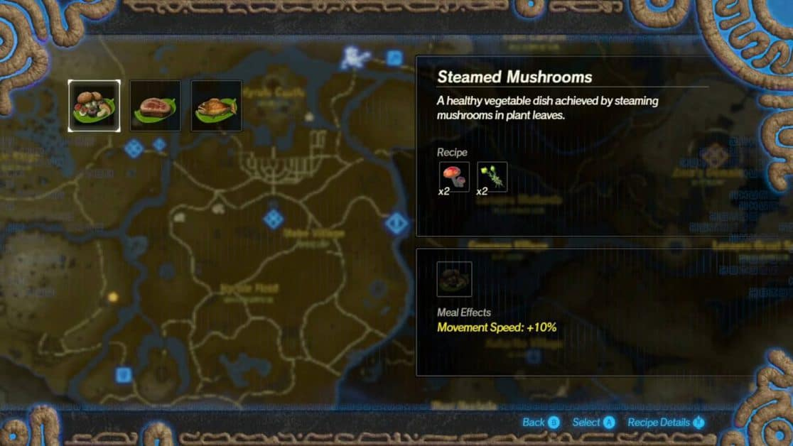Hyrule Warriors Age of Calamity Cooking Recipes