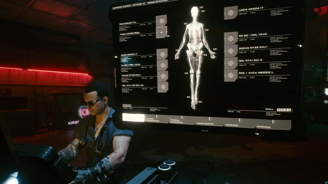 Cyberpunk 2077 Ripperdoc Upgrades