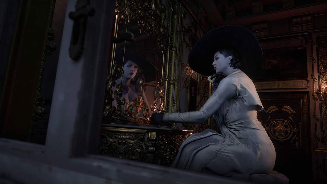 "Lady Dimitrescu Was Originally ""More Creature-Like"" In Resident Evil: Village"