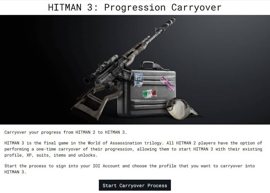 How to Transfer Data from Hitman 2 to Hitman 3