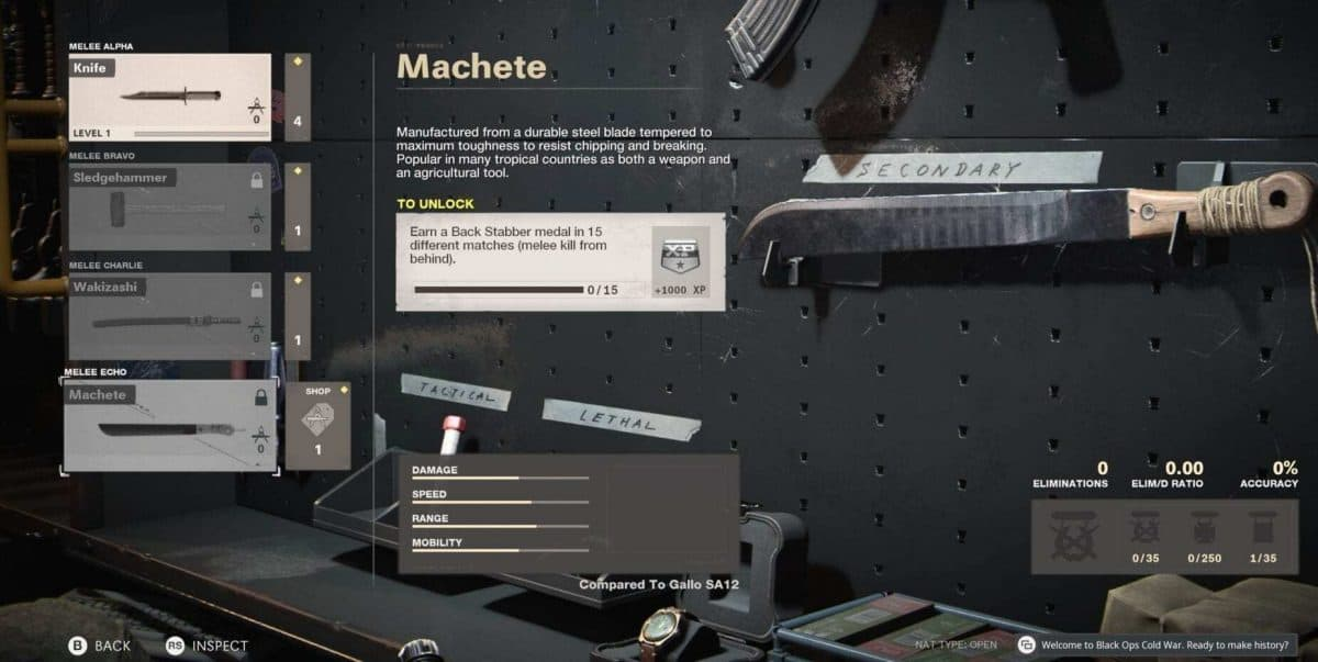 How to Unlock the Machete in Black Ops Cold War