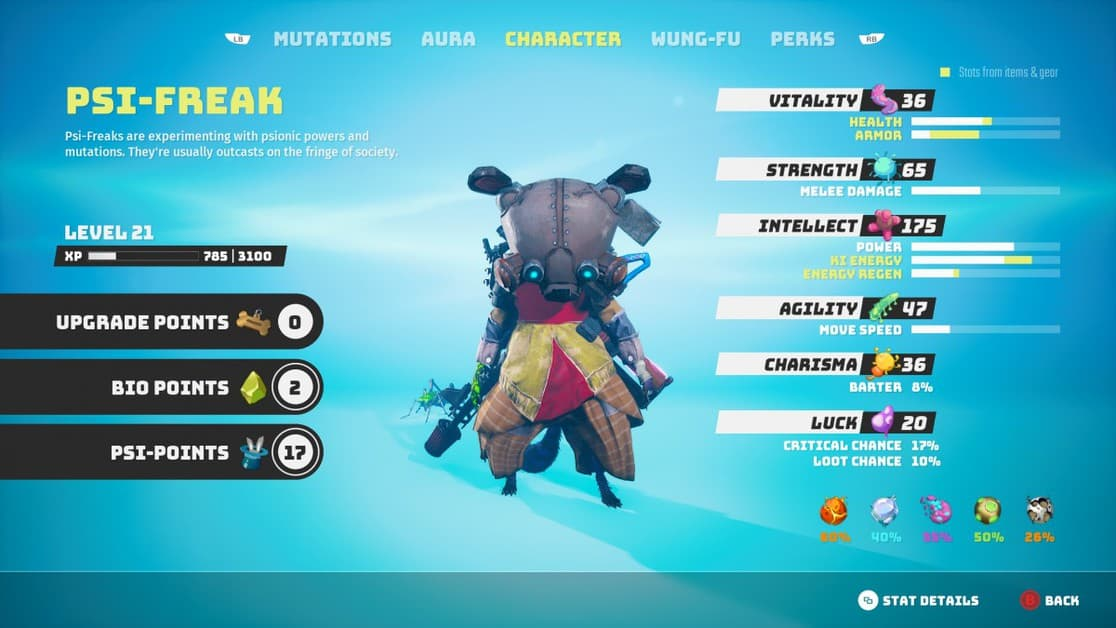 How to get Character Upgrades in Biomutant