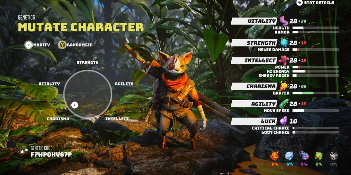 How to Change Appearance in Biomutant