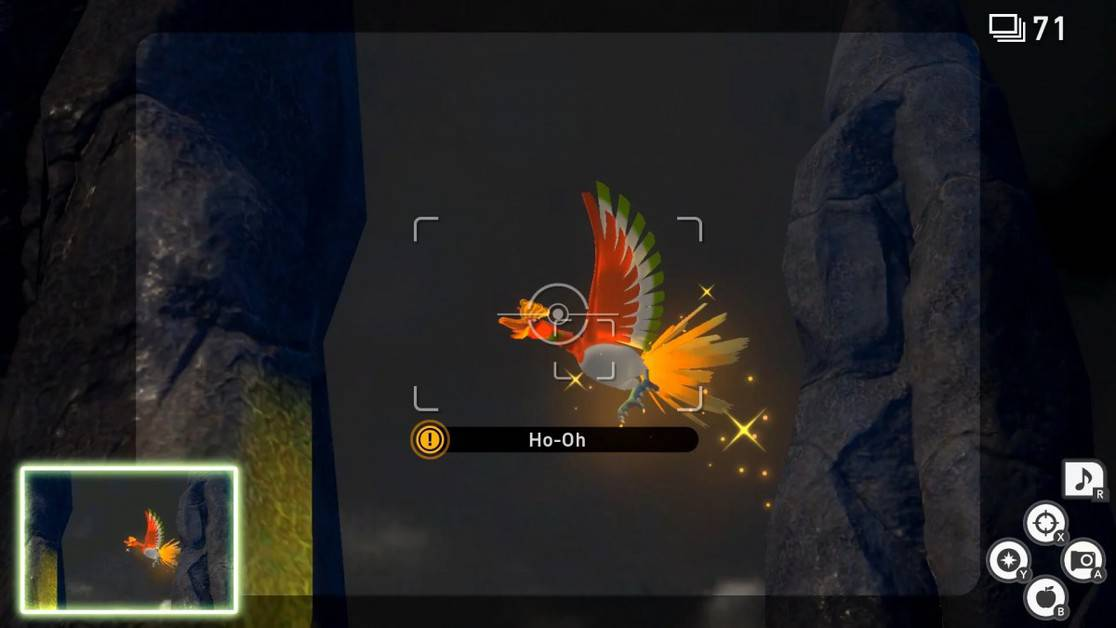 How to Take a 4-Star Ho Oh Photo in New Pokemon Snap