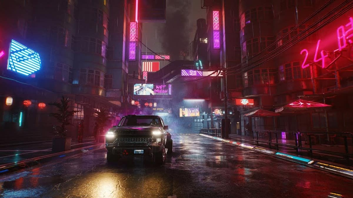 Cyberpunk 2077 Patch 1.31 Makes Wet Surfaces Look More…Wet
