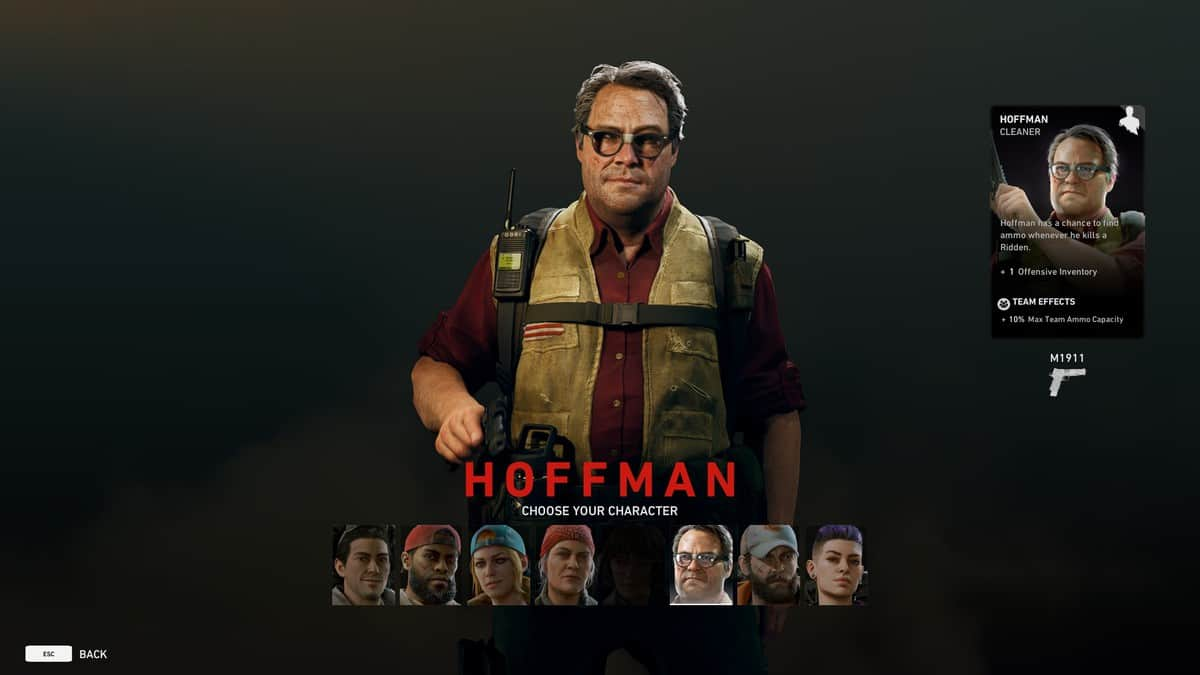 How to Play As Hoffman in Back 4 Blood