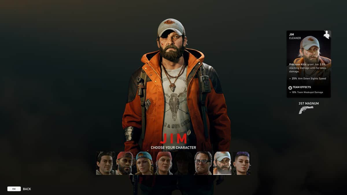 How to Play as Jim in Back 4 Blood