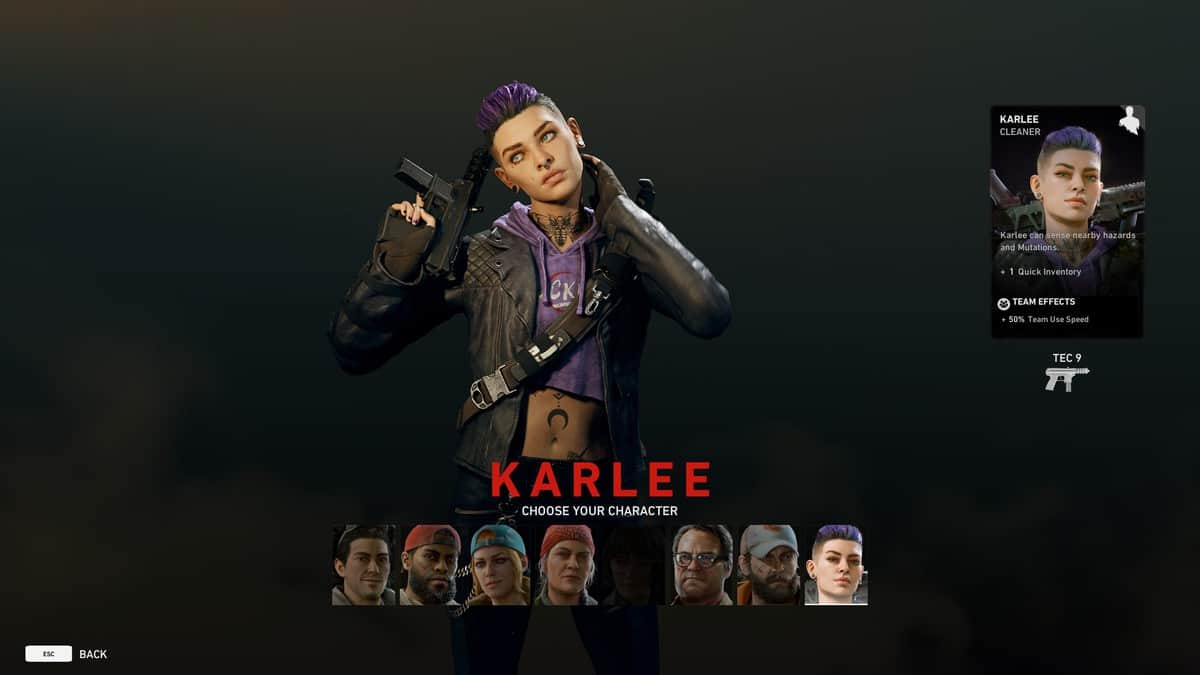 How to Play as Karlee in Back 4 Blood