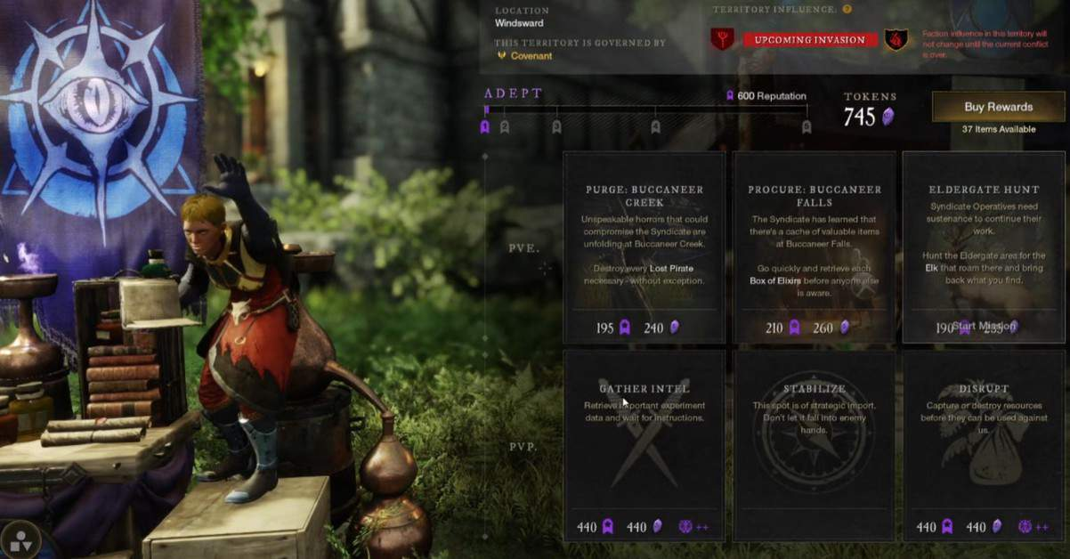 How to Farm Faction Tokens in New World
